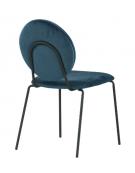 Sedia per interni con struttura in metallo verniciato, seduta e schienale in velluto - cm 45x43x87h