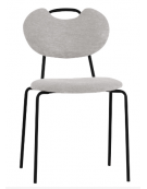 Sedia per interni con struttura in metallo verniciato, seduta e schienale in tessuto - cm 48x45x83h
