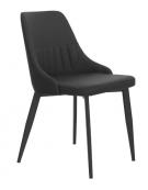 Sedia per interni con struttura in metallo verniciato, rivestimento in ecopelle - cm 45x45x82h