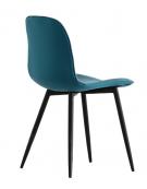 Sedia per interni con struttura in metallo verniciato, rivestimento in tessuto - cm 45x44x84h