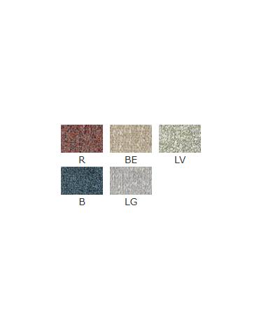 Poltroncina per interni con struttura in metallo verniciato, rivestimento in tessuto - cm 52x46x83h