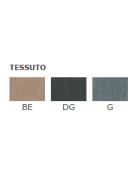 Poltroncina per interni con struttura in metallo verniciato, rivestimento in tessuto - cm 42x46x89h