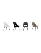 Sedia per interni con struttura in metallo verniciato, rivestimento in  ecopelle - cm 48x46x85h