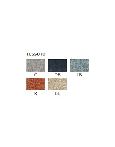 Poltroncina per interni con struttura in metallo verniciato, rivestimento in tessuto - cm 47x46x85h
