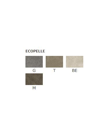 Poltroncina per interni con struttura in metallo verniciato, rivestimento in ecopelle - cm 47x46x85h