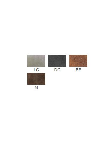 Sedia per interni con struttura in metallo verniciato, rivestimento in  ecopelle - cm 40x40x81h