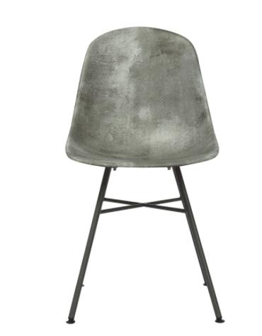 Sedia per interni in metallo verniciato, scocca in ABS sfumato Grigio - cm 46x45x86h