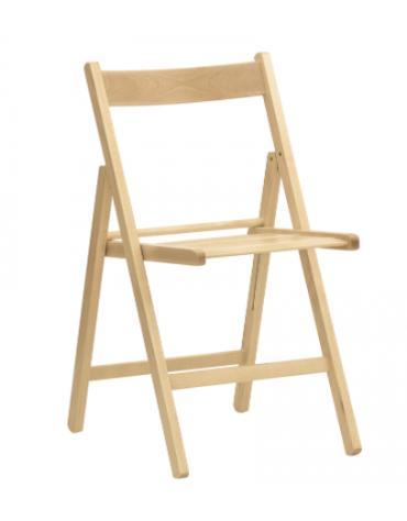 Sedia per interni, struttura pieghevole in legno di faggio - cm 37,5x35x76h