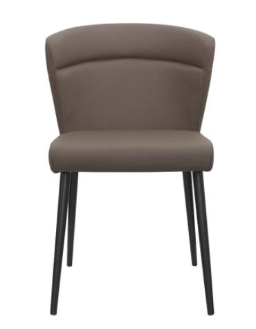 Poltroncina per interni con struttura in metallo, seduta e schienale in ecopelle - cm 44x44x81h