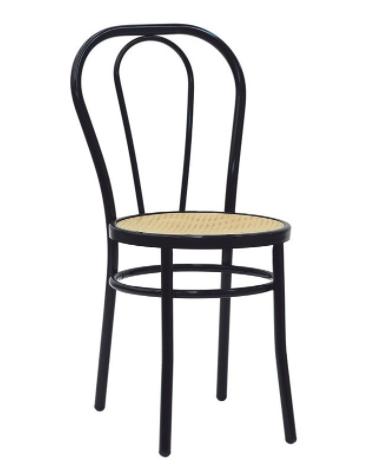Sedia per interni, sruttura in metallo verniciato, seduta in polipropilene - cm 40x46x88h