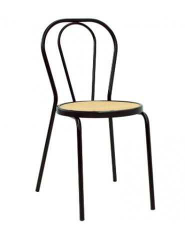 Sedia per interni, sruttura in metallo verniciato, seduta in polipropilene - cm 40x46x87h
