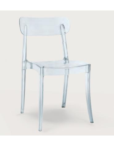 Sedia con struttura in policarbonato - cm 42x45x80h