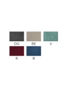 Sgabello per interni, struttura in metallo ottonato, seduta e schienale in velluto - cm 41x40x105h