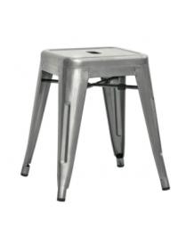 Sgabello per interni, in metallo verniciato con vernice trasparente - cm 30x30x45h