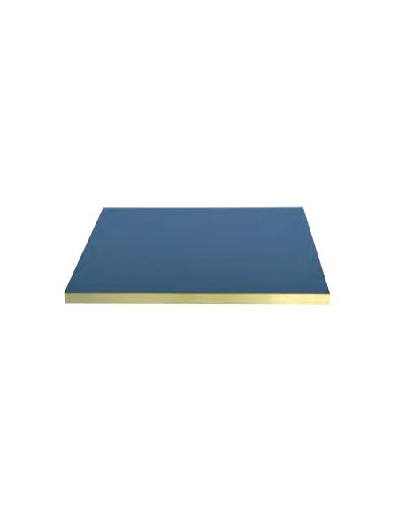 Piano tondo completo di vetro, retrolaccato spessore 30 mm - per interni - cm Ø 80