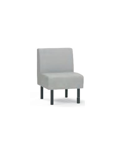 Panca 1 posto per interni, struttura in legno, rivestimento in ecopelle o tessuto - cm 60x45x86h