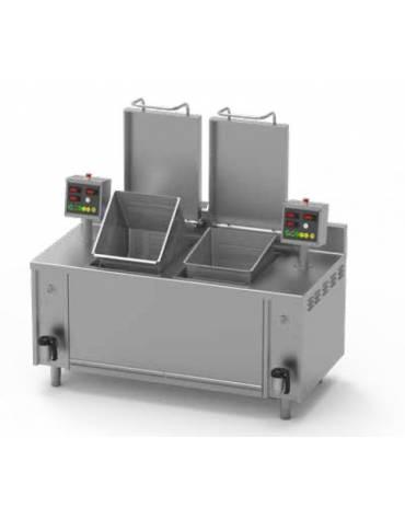 Cuocipasta cuocitore atomatico a gas a una vasca da Lt 150 - cm 90x90x90h