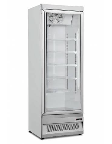 Congelatore porta a vetro e spot luminoso 270Lt - refrigerazione statica con ventola di assistenza - mm 595x640x1865h