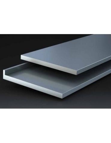 Top in acciaio inox per retrobanco da cm. 75