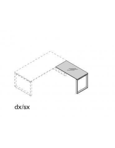 Allungo dx/sx g. anello piano vetro