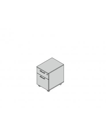 Cassettiera in melaminico su ruote a 2 cassetti special