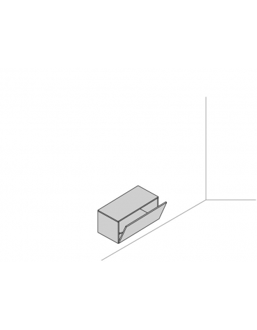 Base sospesa a muro 90x45x41,6 con anta a ribalta