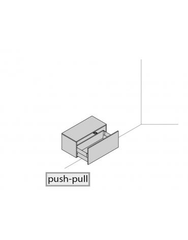Base sospesa a muro 90x45x41,6 con cassettone estraibile