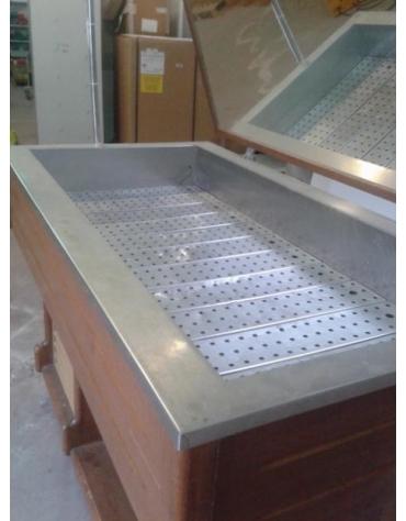 Vetrina refrigerata per pesce per ristorante - USATA