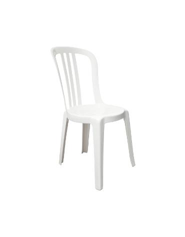 Sedia in resina bianca Miami Bistrot x