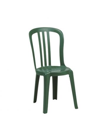 Sedia in resina verde Miami Bistrot x