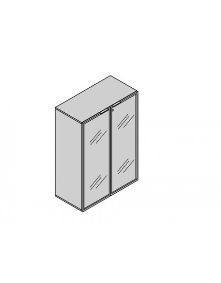 Armadio Ufficio 2 Ante.Armadio Contenitore Per Ufficio 2 Ante In Vetro Cm 90x45x130h