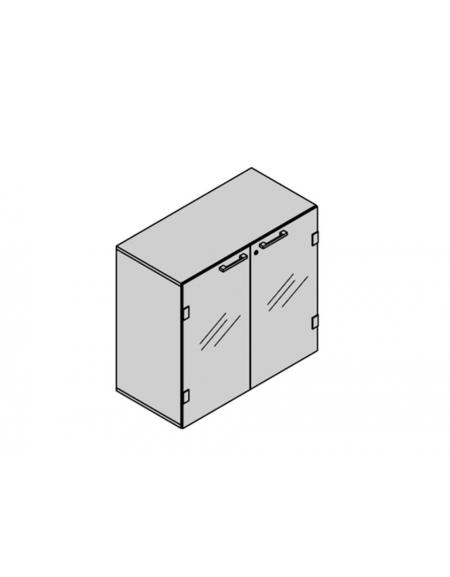 Contenitore 2 ante vetro fumè 90x35x88h