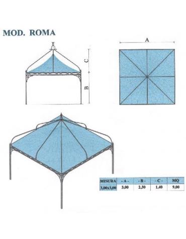 Roma quadrato lato metri 3