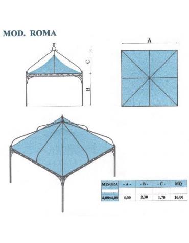 Roma quadrato lato metri 4
