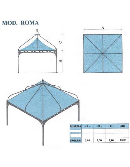 Roma quadrato lato metri 5