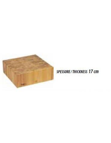 Ceppo in legno per macelleria cm. 40x40x90h