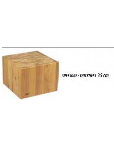 Ceppo in legno per macelleria cm. 50x50x90h