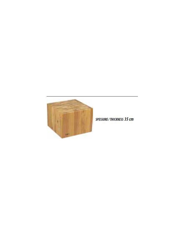 Ceppo in legno per macelleria cm 60x60x90h ceppi for Arredamento macelleria usato