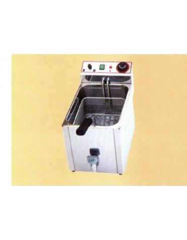 Friggitrice da banco con rubinetto di scarico Lt 10 Monofase