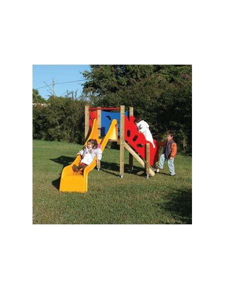 Torretta gioco in legno con scivolo in vetroresina per bambini for Scivolo per bambini usato