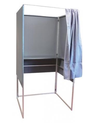 Cabina elettrorale in alluminio con 1 mensola con tenza ignifuga