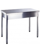 Tavolo inox aperto senza ripiano Dimensioni cm.100x70x85/90h