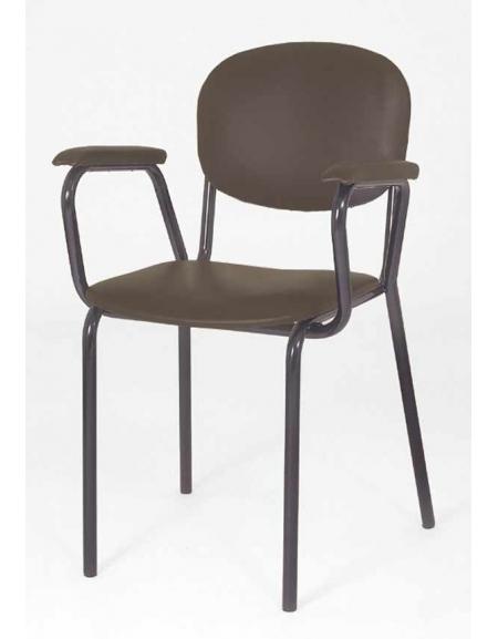 Sedia poltroncina imbottita per insegnanti con braccioli