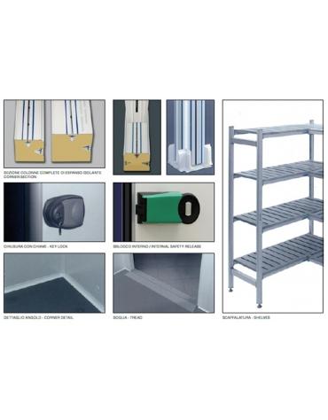 Cella frigorifera modulare industriale da cm. 334x294x254h