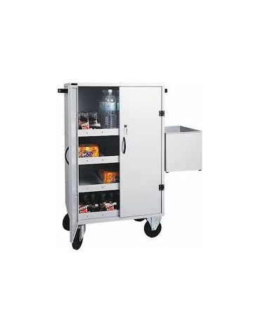 Carrello per rifornimento minibar frigobar cm 80x50x118h