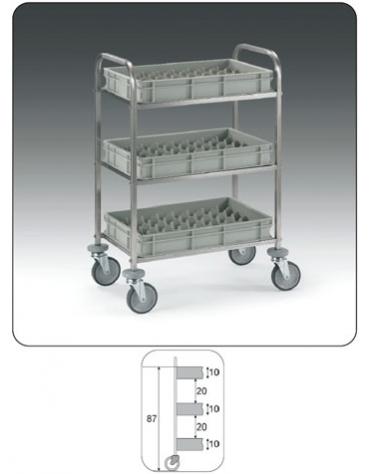 Carrello per rifornimento minibar frigobar