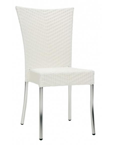 Sedia in alluminio e polietilene Bianca