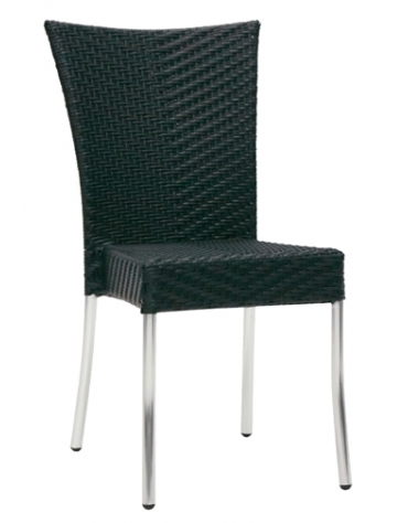 Sedia in alluminio e polietilene Antracite