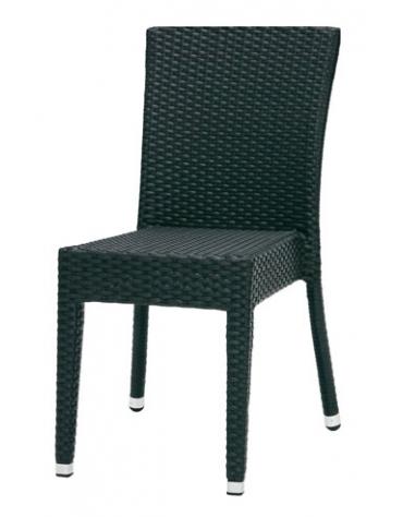 Seduta da esterno in polietilene Nera