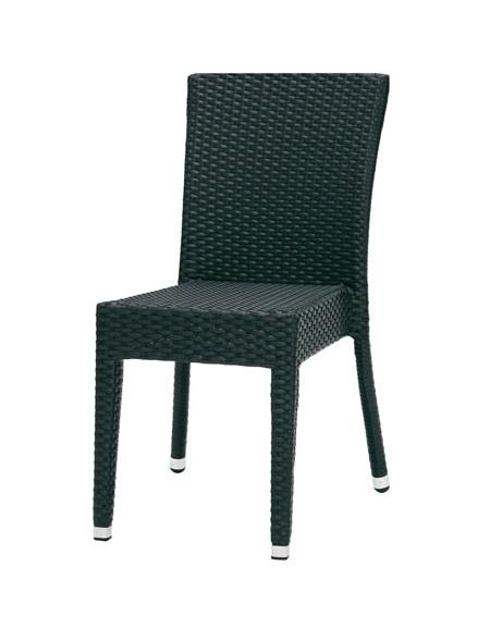 Sedie E Tavoli Per Bar Da Esterno.Seduta Da Esterno In Polietilene Nera Sedie E Tavoli Per Bar O